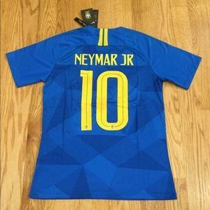 Neymar JR #10 Brazil away Nike jersey-XL size